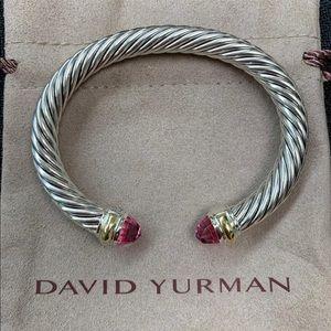 DY Tourmaline 14k Gold 7mm Bracelet Cuff